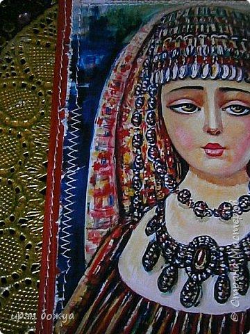 Это панно сделано в подарок женщине с армянскими корнями. Работа выполнена по мотивам работ Ольги  Кравец. В окончательном варианте фото оформила в красную рамочку. Фото добавлю потом. фото 39