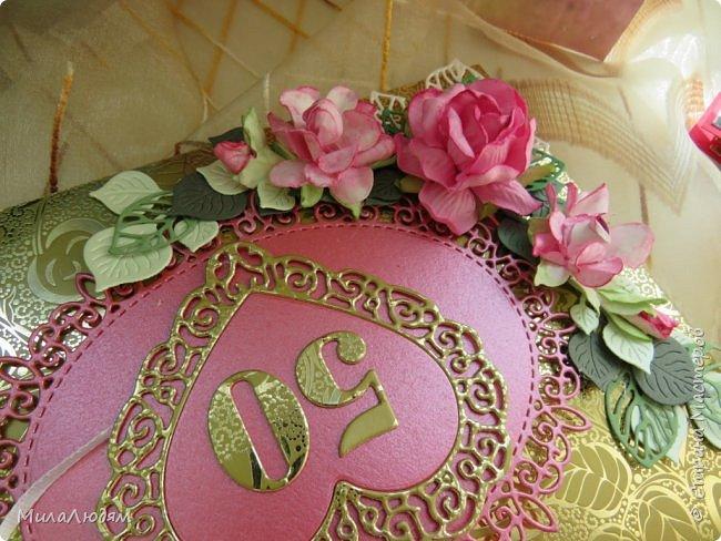 Всем доброго времени суток! Здравствуйте и процветайте! Сегодня хочу показать вам открытки на свадебный юбилей 50 лет - Золотая свадьба. Эти открытки делала по обмену на вышитые метрики для моих внучек. фото 11