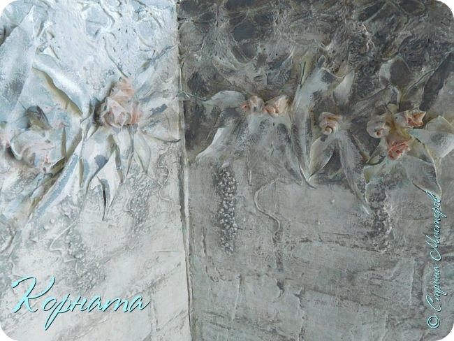 """Доброго времени суток, дорогие друзья! Я все же собралась и сделала вторую сторону своего фотофона   https://stranamasterov.ru/node/1141943   """"Старые доски"""" Увидела МК Кристины Деменской и просто не смогла не повторить такую красоту! фото 14"""