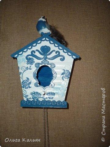 Старый дверной звонок превращается в интерьерный скворечник. фото 3