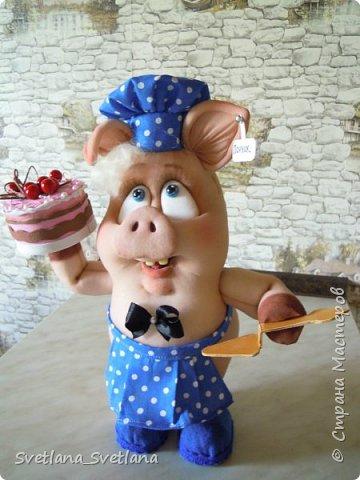 Вот такой Поросенок Пончик у меня получился, спасибо Елене Лаврентьевой фото 1