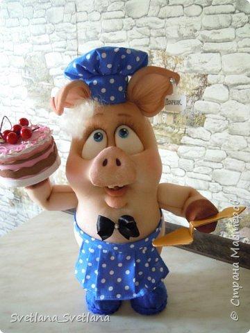 Вот такой Поросенок Пончик у меня получился, спасибо Елене Лаврентьевой фото 2