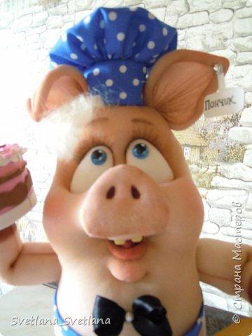 Вот такой Поросенок Пончик у меня получился, спасибо Елене Лаврентьевой фото 3