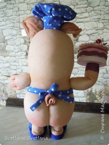 Вот такой Поросенок Пончик у меня получился, спасибо Елене Лаврентьевой фото 4