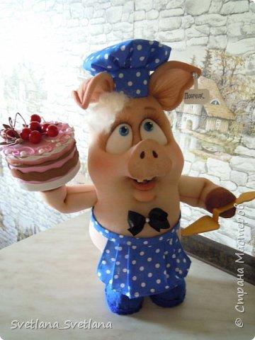 Вот такой Поросенок Пончик у меня получился, спасибо Елене Лаврентьевой фото 6