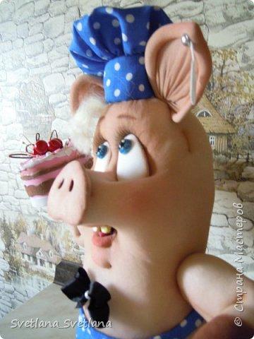 Вот такой Поросенок Пончик у меня получился, спасибо Елене Лаврентьевой фото 7