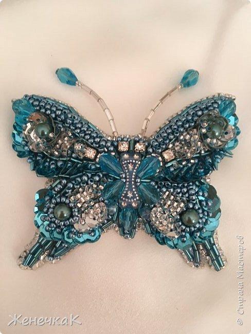 Брошь Небесная бабочка. фото 3