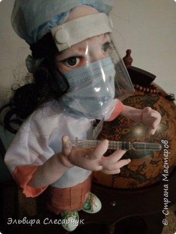 Кукла в подарок на день медика.В Диализный центр. Образ сборный одежда соответствует действительности. Образ медсестры.сделано на заказ.  фото 2