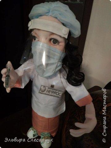 Кукла в подарок на день медика.В Диализный центр. Образ сборный одежда соответствует действительности. Образ медсестры.сделано на заказ.  фото 1