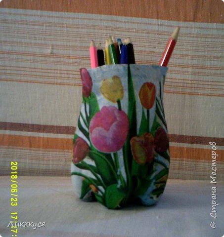 "карандашница ""тюльпаны"" фото 1"