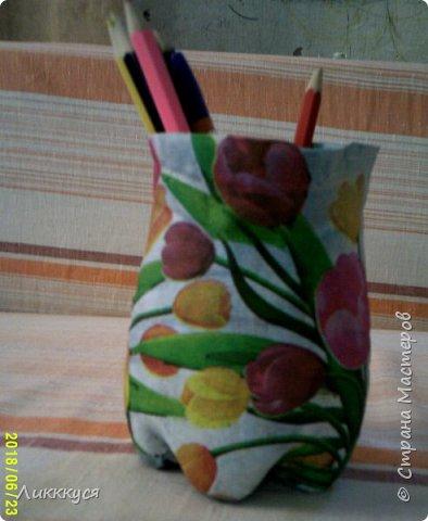 "карандашница ""тюльпаны"" фото 2"