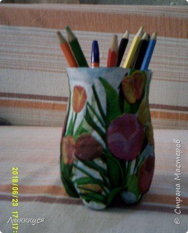 "карандашница ""тюльпаны"" фото 5"