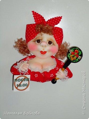 """Магнит на холодильник - кукла из серии """"Аппетитные дамы"""" фото 4"""