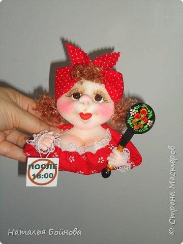 """Магнит на холодильник - кукла из серии """"Аппетитные дамы"""" фото 1"""