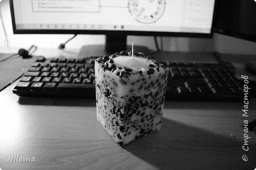 Кофейная свеча ажурная фото 1