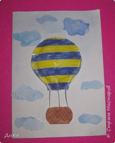 Всем огромный привет!  Продолжаю показывать свои открытки :-)   Все открытки уже давно вручила, ещё в мае.  Сегодня хочу вам показать двадцатую открытку, которую я сделала для одноклассника. Открытка про путешествие в дальние страны  Фон нарисовала акварельными красками Воздушный шар - это СКВИШ. Как сделать СКВИШ, показывала здесь https://stranamasterov.ru/node/1148166 фото 1