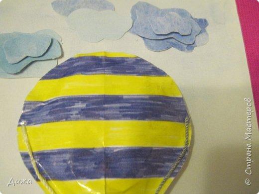 Всем огромный привет!  Продолжаю показывать свои открытки :-)   Все открытки уже давно вручила, ещё в мае.  Сегодня хочу вам показать двадцатую открытку, которую я сделала для одноклассника. Открытка про путешествие в дальние страны  Фон нарисовала акварельными красками Воздушный шар - это СКВИШ. Как сделать СКВИШ, показывала здесь https://stranamasterov.ru/node/1148166 фото 3