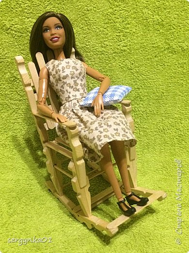 Кресло-качалка для куклы Барби фото 4