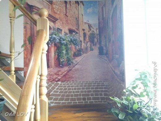 Всем привет! Наконец то закончила я с декором стены! Немного пред истории... Купили фотообои, но на всю стену они не поместились и я взялась задекорировать пустое пространство вокруг. И вот что получилось:  фото 4