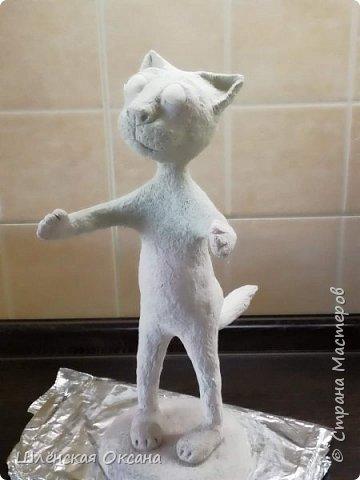 Доброго времени суток,Страна Мастеров!Ну вот котик готов,почти готов осталось покрыть лаком. фото 4