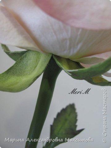Роза сделана из зефирного фоамирана, стебель - из глины.  фото 12