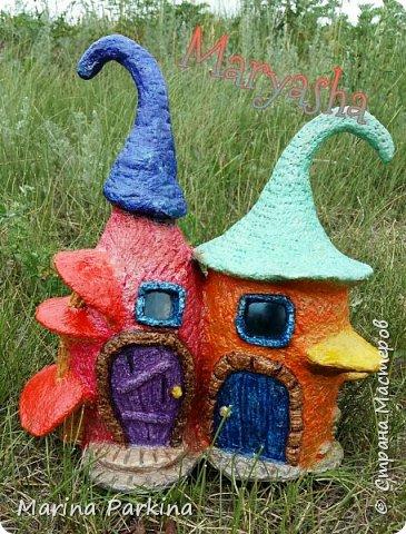 На этот раз сказочные домики... для эльфов, гномов, фей.. кому как нравится))) Вид спереди... фото 1