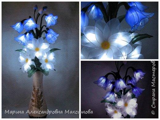 """Светильник """"Лилии"""" переливается плавно разными цветами.  фото 15"""