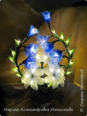 """Светильник """"Лилии"""" переливается плавно разными цветами.  фото 12"""