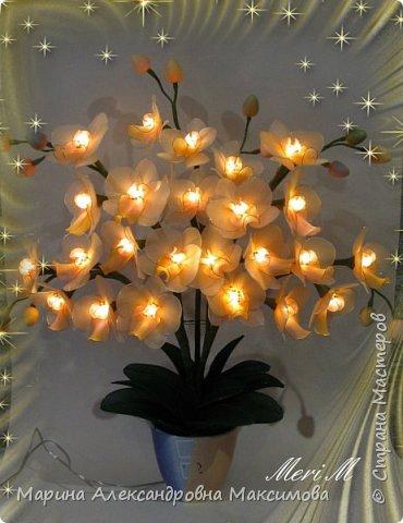 """Светильник """"Лилии"""" переливается плавно разными цветами.  фото 7"""