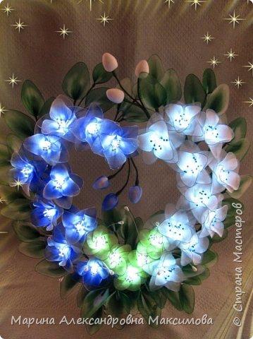 """Светильник """"Лилии"""" переливается плавно разными цветами.  фото 17"""