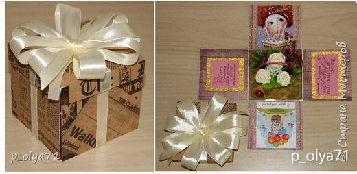 Здравствуйте!!!! Почти 2 недели занималась коробочками,очень мне понравилось их делать,приготовила в подарки на дни рождения,некоторые уже подарены.  Использовала: акварельная бумага(основа),скрапбумага(кстати,случайно увидела наборы в ФиксПрайсе,взяла на пробу - хорошая бумага по такой очень доступной цене!),офисная цветная бумага(распечатывала пожелания,делала цветы),фотобумага(картинки из инета),ленты(самодельные розы в корзиночках и банты на коробочках),искусственная зелень (в корзиночках),сизаль,различные наклейки для декора(шарики воздушные,бантики..) фото 37