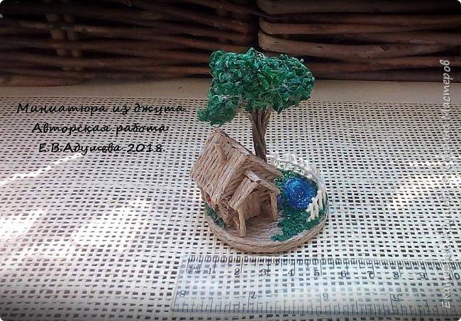 Джутовые миниатюры, домик в деревне.  фото 13