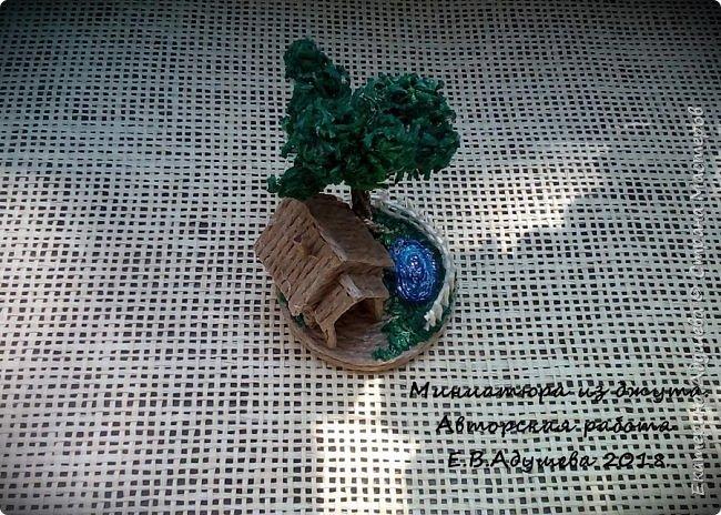 Джутовые миниатюры, домик в деревне.  фото 8