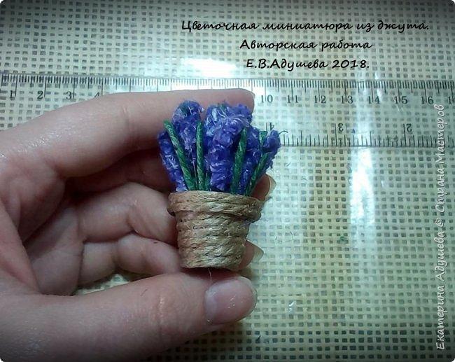 Джутовые миниатюры, домик в деревне.  фото 22