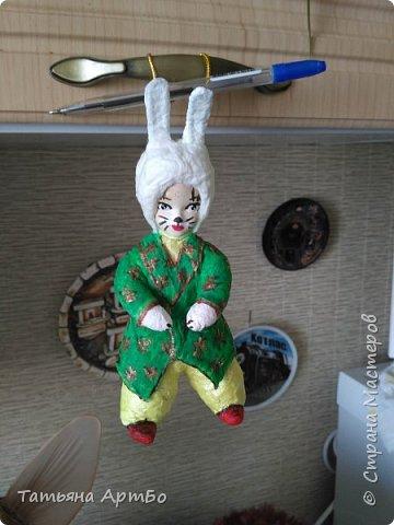 А это я попробовала ватную игрушку сделать по мк Елены Васько.