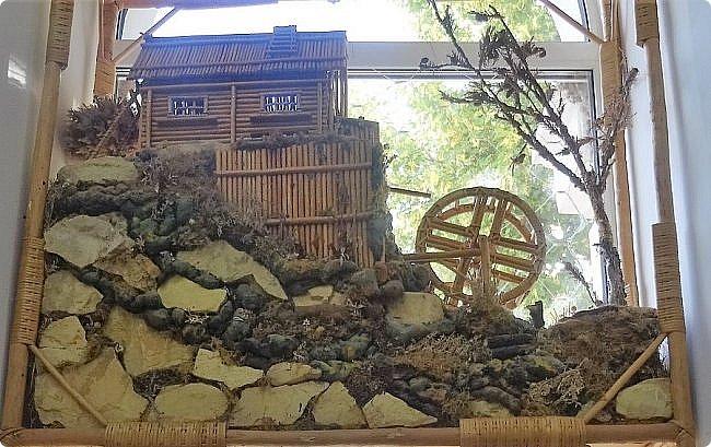 Плетение из соломы \\ Оформление витрины булочной в г.Орёл фото 4