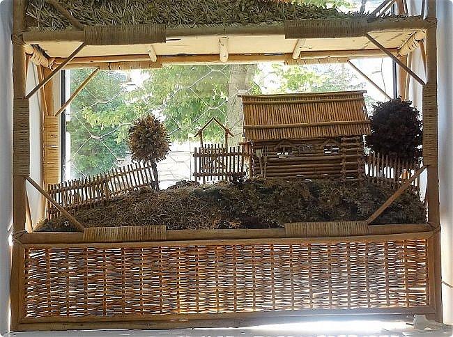Плетение из соломы \\ Оформление витрины булочной в г.Орёл фото 7