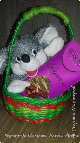 Добрый вечер !!!  Вот такая  получилась у меня   конфетница с плетеным донышком  .                                                                   фото 1