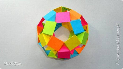 Оригами Футбольный мяч из бумаги ⚽