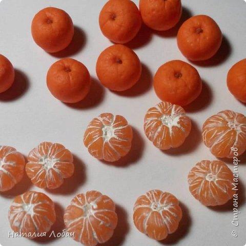 Браслет с мандаринами из запекаемой полимерной глины) фото 3