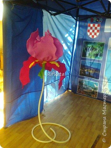Ирис, ростовой цветок из бумаги фото 3