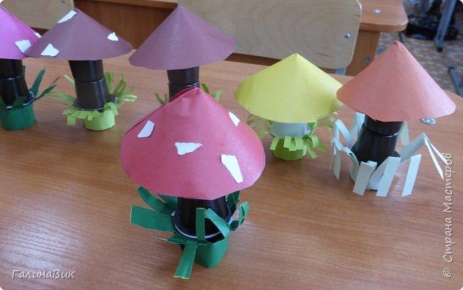 Всем добрый день!!! В школьном лагере с ребятами начальной школы делали грибы из бумаги и бросового материала (мои образцы здесь https://stranamasterov.ru/node/1147288). Работы ребят. фото 6