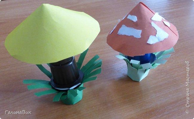 Всем добрый день!!! В школьном лагере с ребятами начальной школы делали грибы из бумаги и бросового материала (мои образцы здесь https://stranamasterov.ru/node/1147288). Работы ребят. фото 14