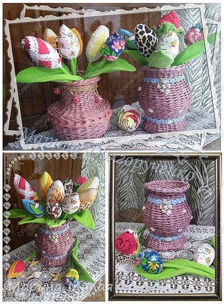 Всем доброго времени суток!!! Вот такие вазы с цветами в подарок к дням рождения на радость для интерьера у меня сотворились... фото 15