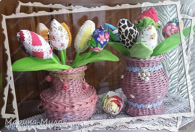 Всем доброго времени суток!!! Вот такие вазы с цветами в подарок к дням рождения на радость для интерьера у меня сотворились... фото 1