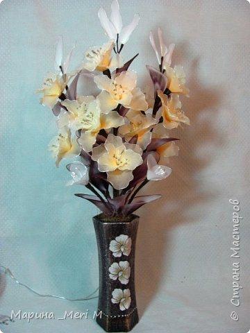 """Светильник """"Лилии"""" переливается плавно разными цветами.  фото 19"""