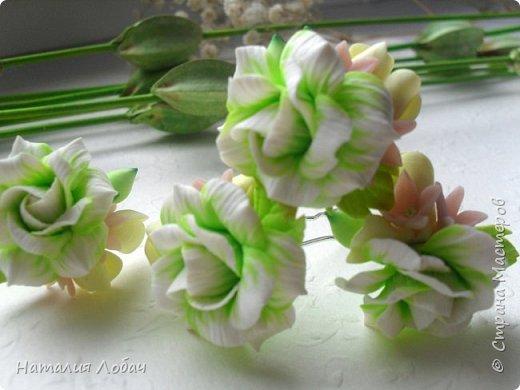 Нежные шпильки с розами и мелкими цветами)) Материал - запекаемая полимерная глина. фото 1