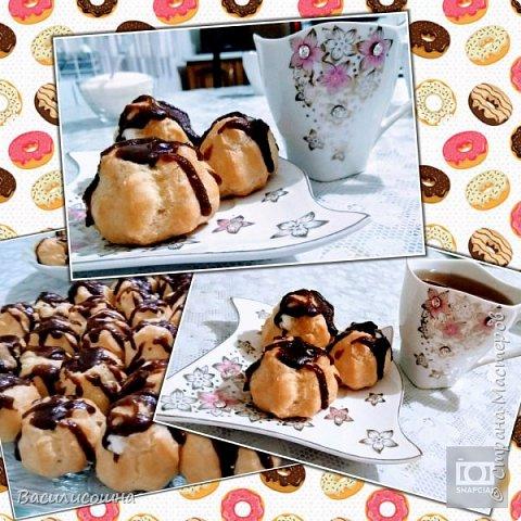 вкусные малышики-эклерчики с творожным кремом и шоколадной глазурью