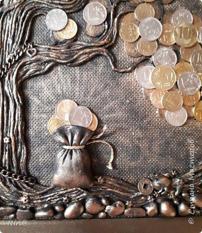 Всем доброго времени суток! Картина-панно мощный талисман для привлечения благополучия и увелечения денежного потока      по Фэн -шуй.   Огромное спасибо всем мастерам за подробный мастер-класс!!! Тани Сорокиной в МК скручивания жгутиков (https://stranamasterov.ru/node/308701), m_a_r_i_n_a https://stranamasterov.ru/node/578436?c=favorite_c. Размер панно-картины 40х50. Описание символики можно прочесть здесь - https://stranamasterov.ru/node/1088729 фото 10