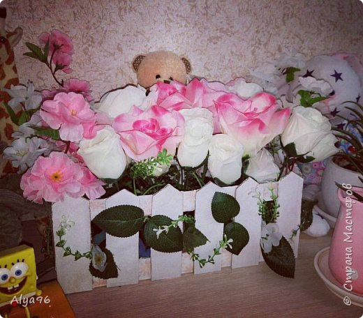"""✯ Декор для рабочего стола или комнаты """"Заборчик с цветами"""" ✯"""